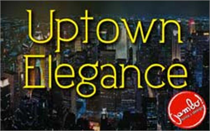 Uptown Elegance font by Jambo! Fonts & Design
