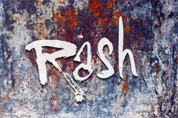 Vtks Rash Font outdoor painting