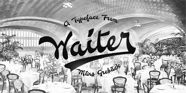 Waiter PERSONAL USE ONLY Font handwriting cartoon
