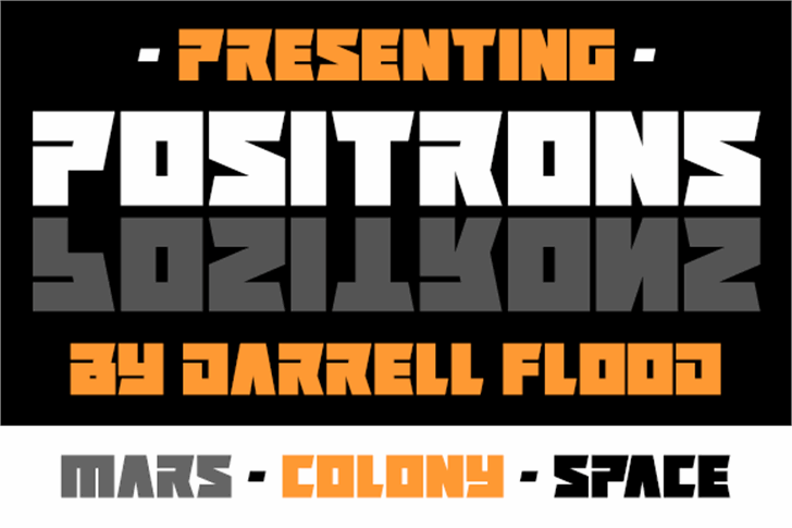 Positrons Font poster screenshot
