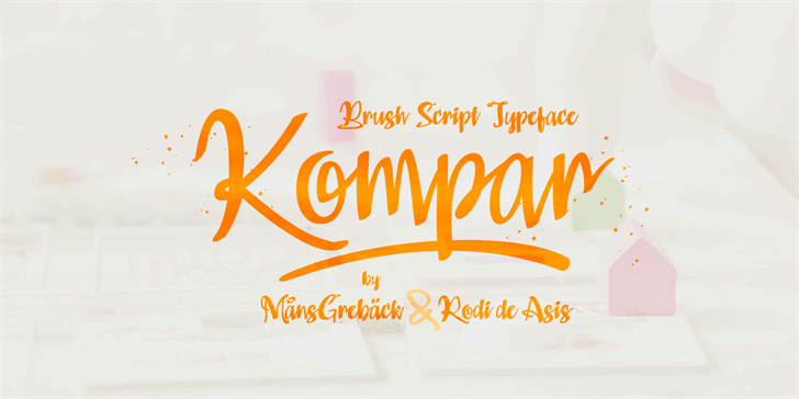 Kompar Black PERSONAL USE ONLY Font handwriting design