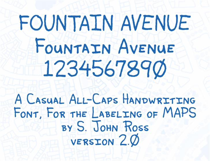 Fountain Avenue Font handwriting typography