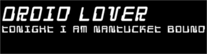 Droid Lover Font screenshot font