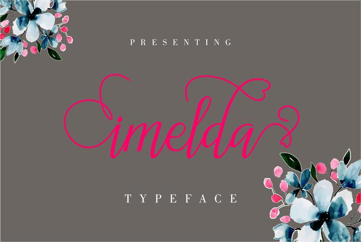 imelda Font design graphic
