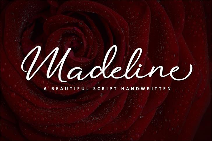 Madeline Font design red