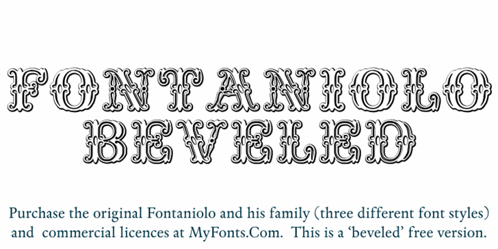 Fontaniolo Beveld Font handwriting design