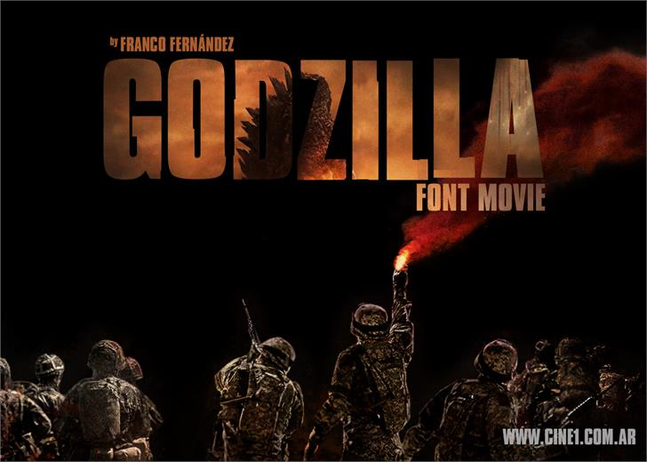 Godzilla MovieFont screenshot book
