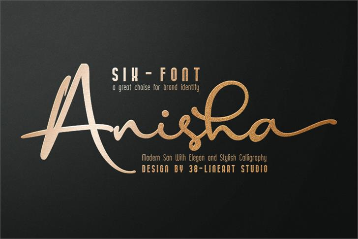 Anisha Font poster