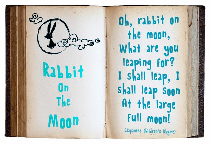 Rabbit On The Moon Font handwriting text