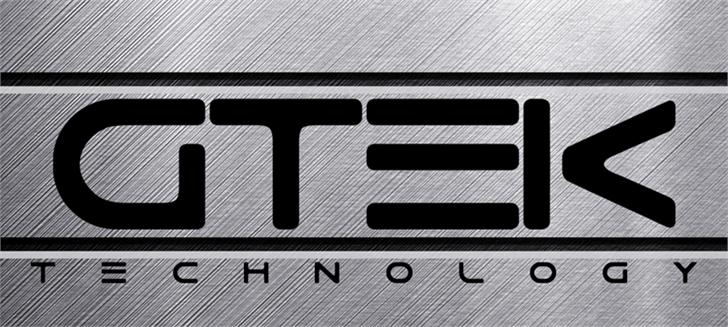 Gtek Technology Font line abstract
