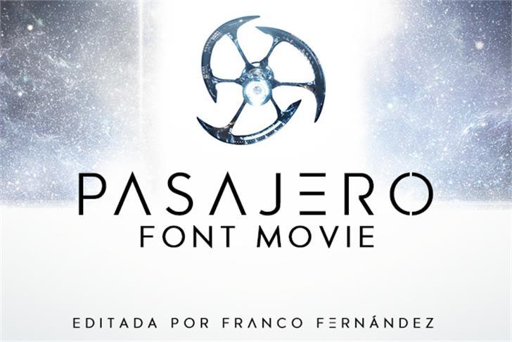Pasajero Font design graphic