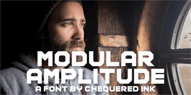 Modular Amplitude Font screenshot