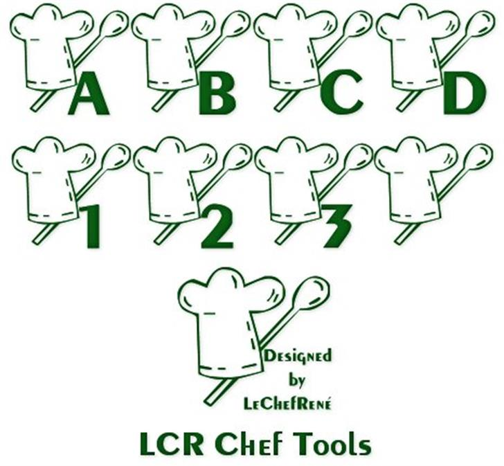 LCR Chef Tools font by LeChefRene