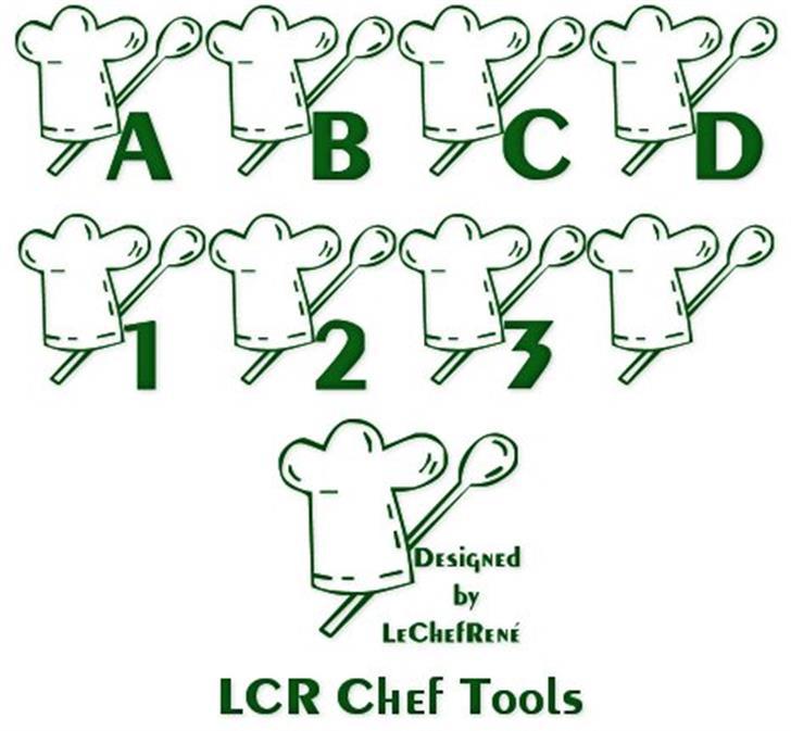 LCR Chef Tools Font handwriting cartoon