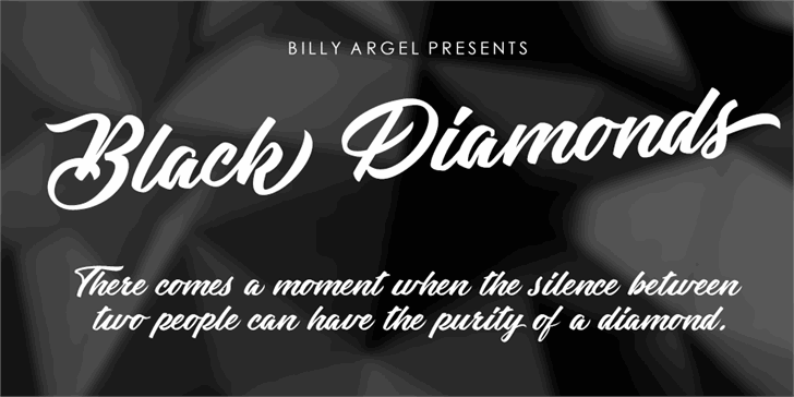 Black Diamonds Personal Use Font text design