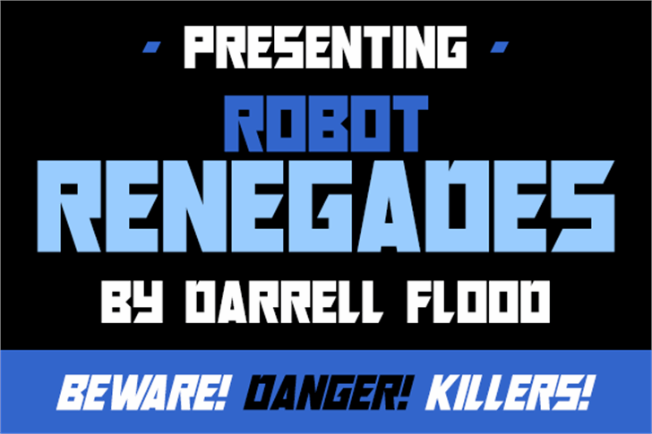 Robot Renegades Font screenshot text