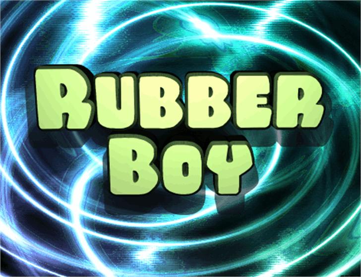Rubber Boy Font screenshot cartoon