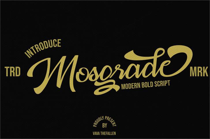 Mosgrade Personal Use Font text design