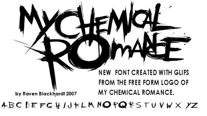 the chemical parade Font sketch drawing