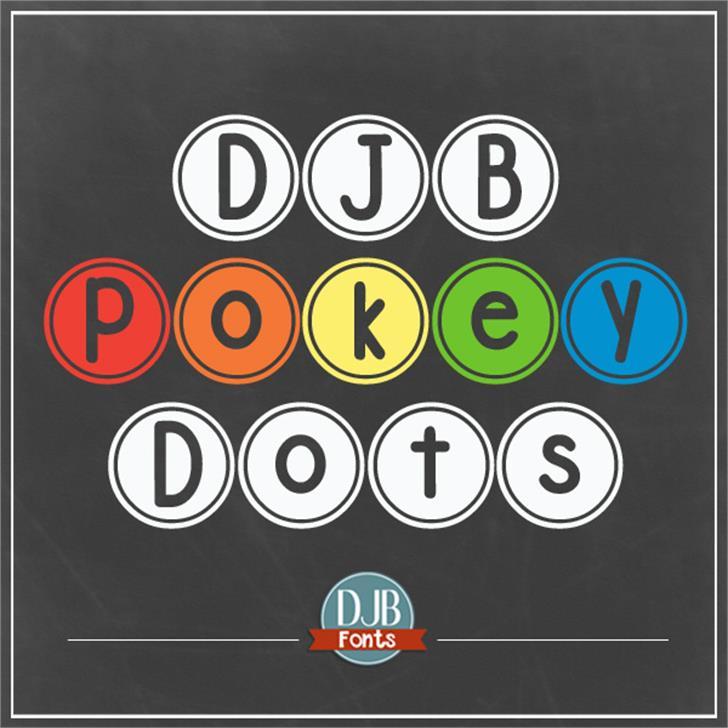 DJB Pokey Dots font by Darcy Baldwin Fonts