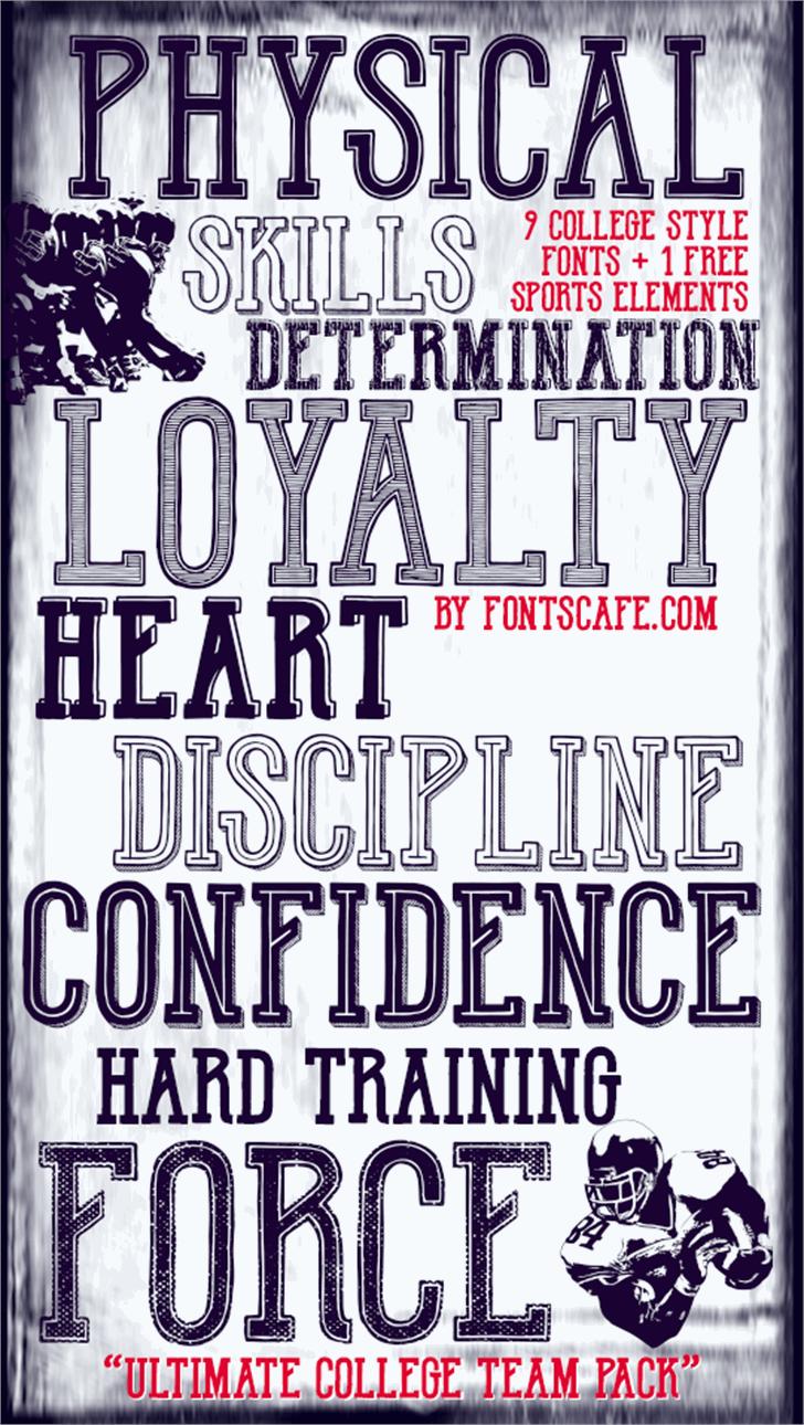 Hot Legend Team DEMO Font text poster