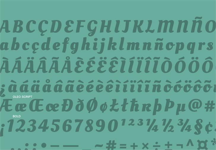 Oleo Script Font text font