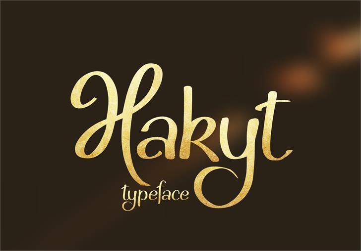 Hakyt Font handwriting text