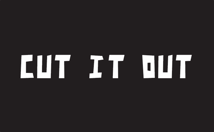 Cut It Out Font design screenshot