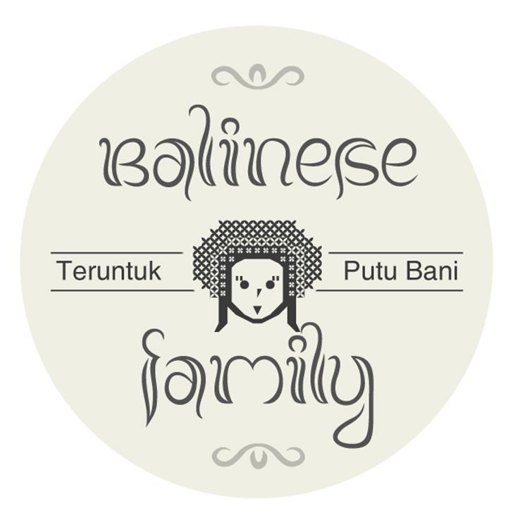 Balinese Family Font design human face