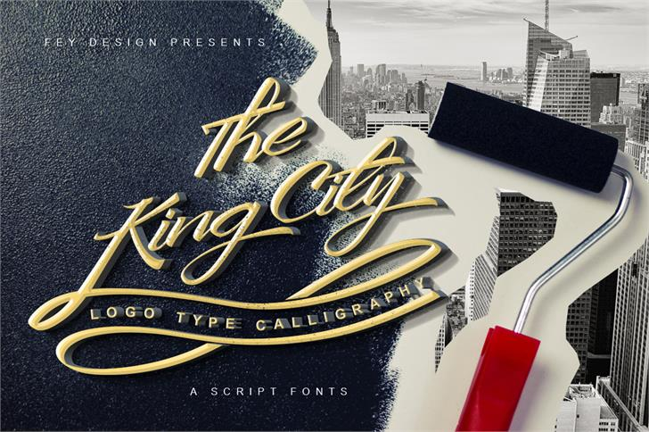 King City Free Font table design