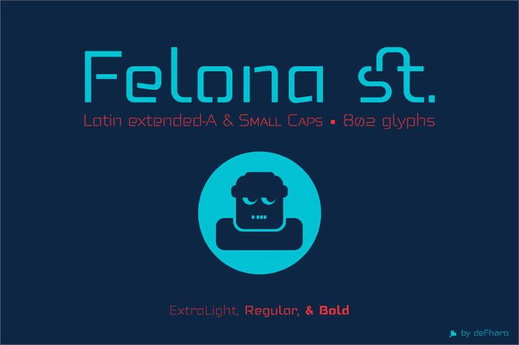 Felona st Med Font design screenshot