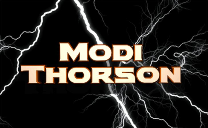 Modi Thorson Font screenshot poster