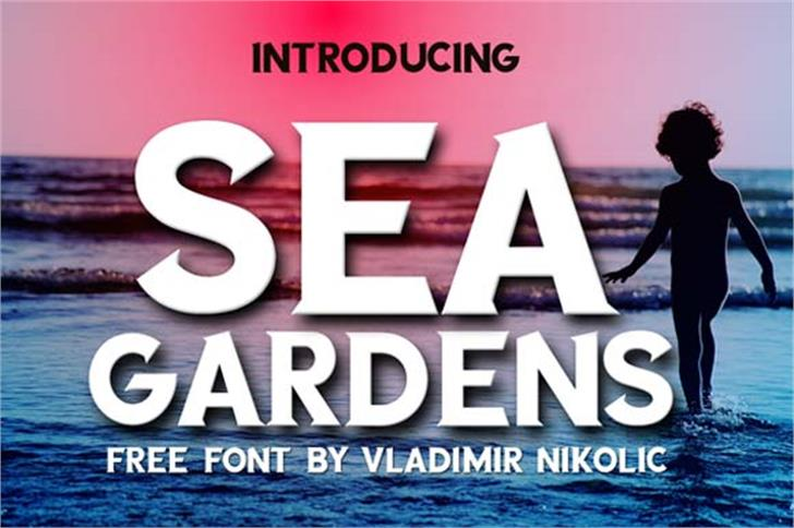 SEA GARDENS Font screenshot poster