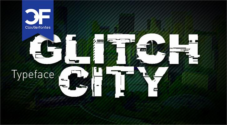 CF Glitch City Font screenshot cartoon