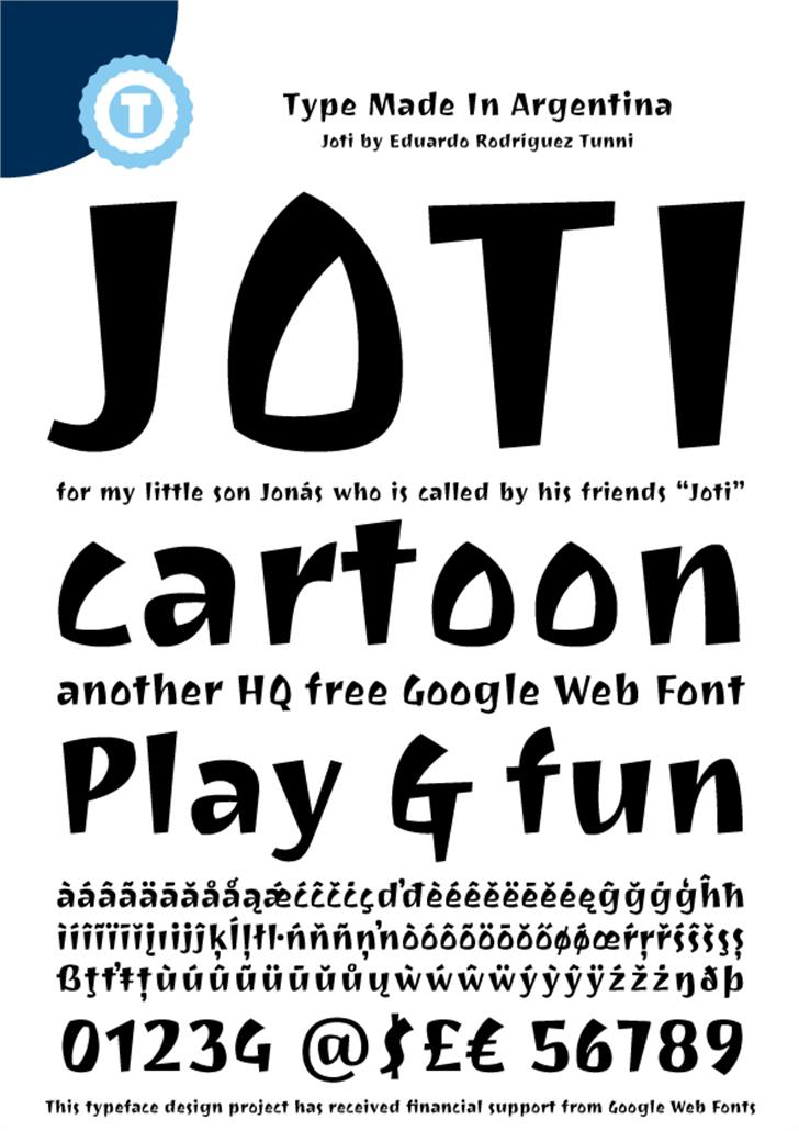 Joti One Font poster text