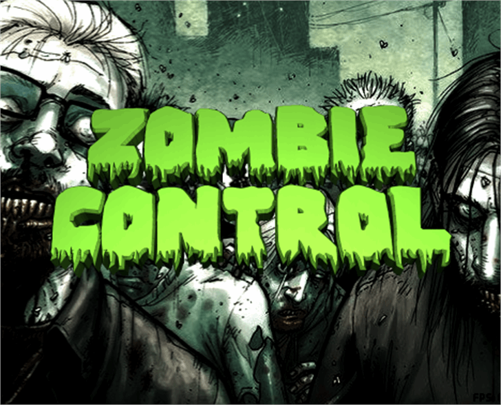 Zombie Control Font cartoon poster