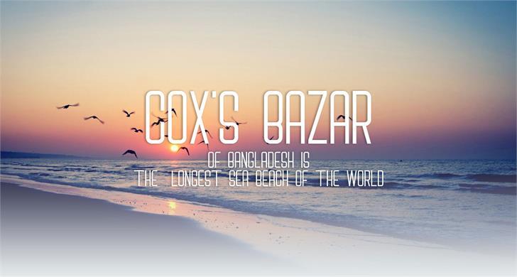 Cox's Bazar Font screenshot poster