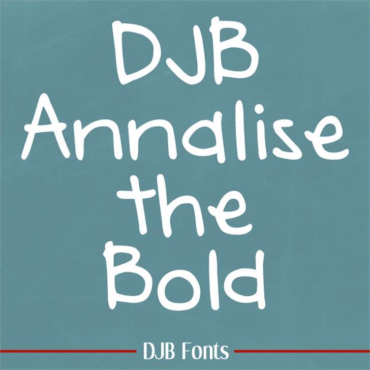 DJB Annalise Font handwriting blackboard