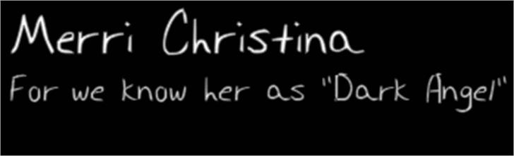Merri Christina Font text screenshot