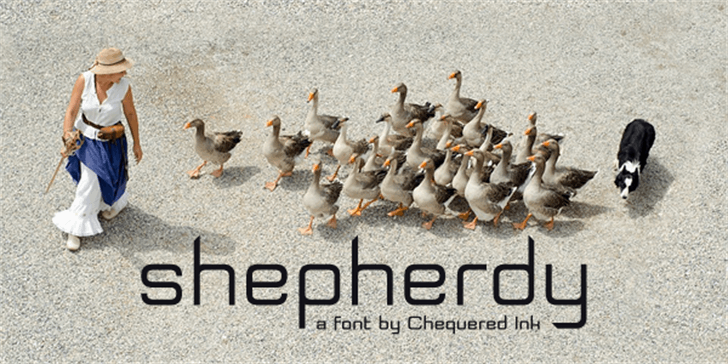Shepherdy font by Chequered Ink