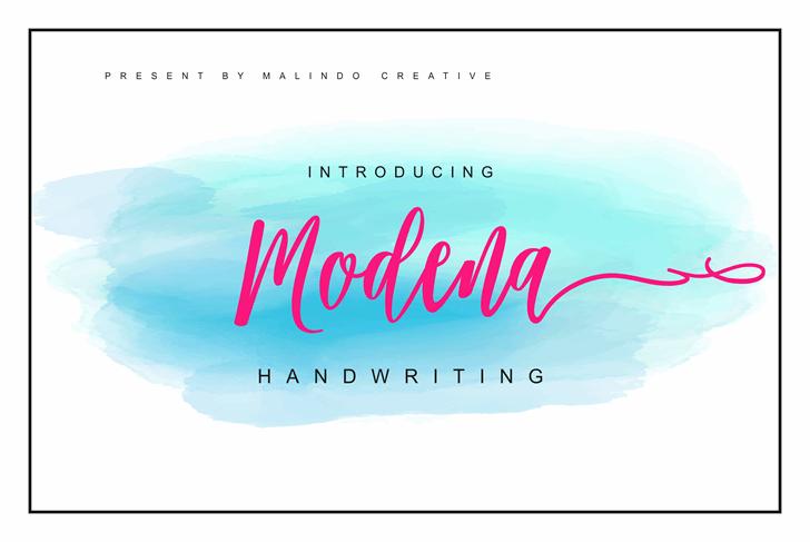 Modena Font text design