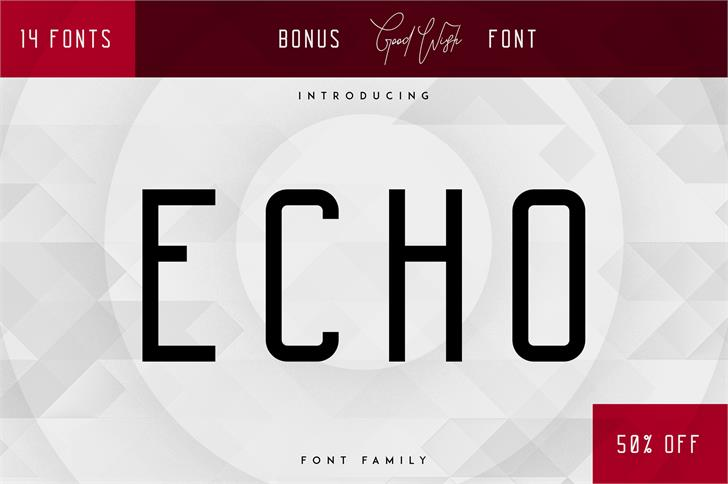 Echo Font screenshot design