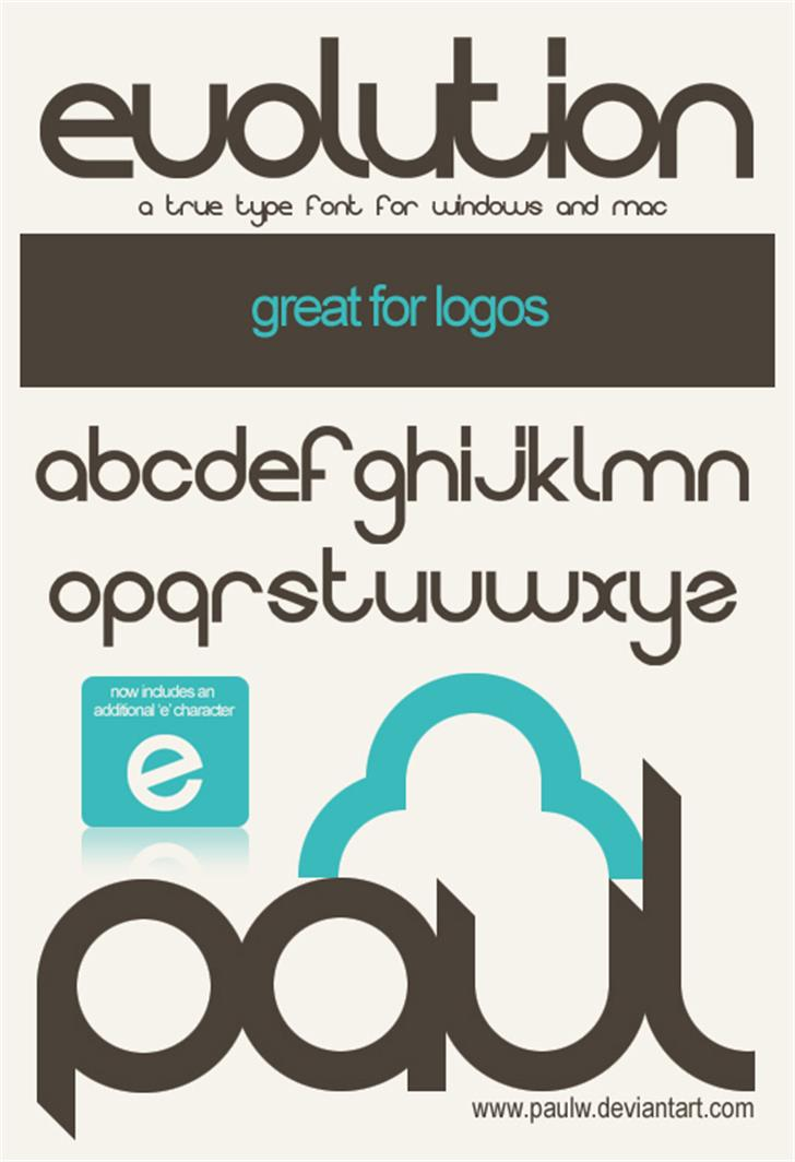 Evolution font by PaulW