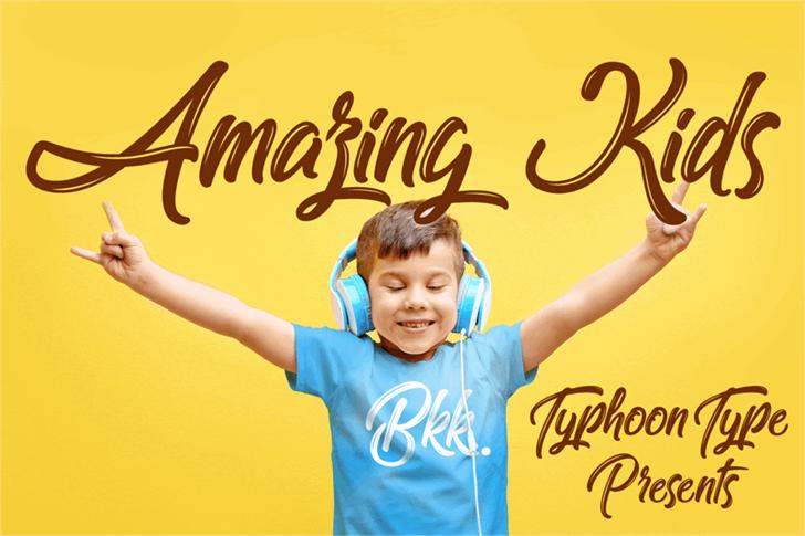 Amazing Kids font by Typhoon Type - Suthi Srisopha