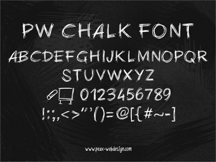 PWChalk Font text handwriting