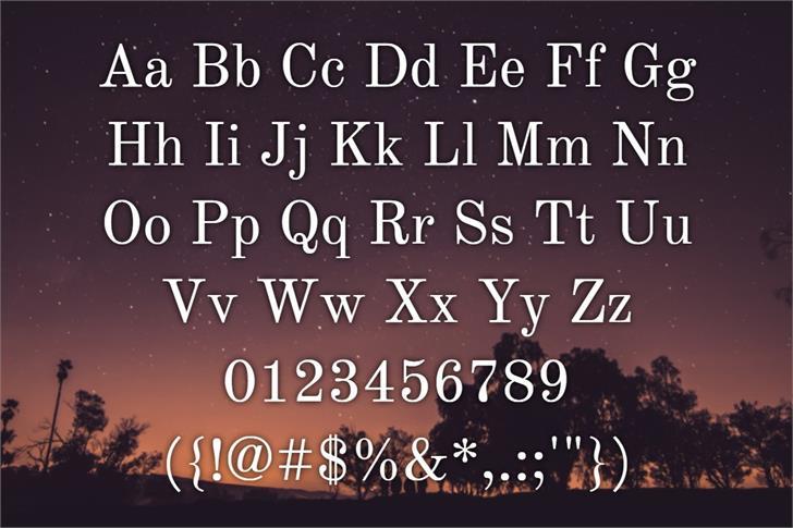 Old Standard Font poster