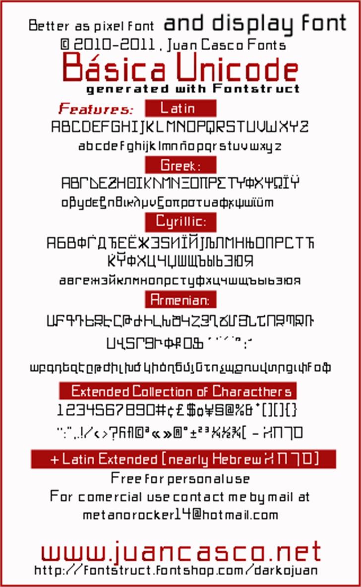 BasicX Font screenshot receipt