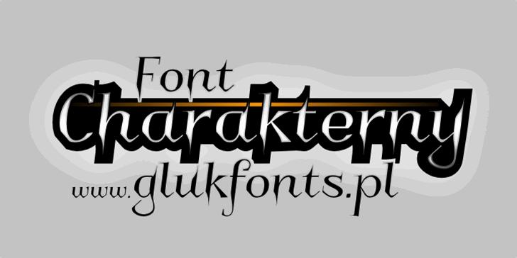 Charakterny Font design typography