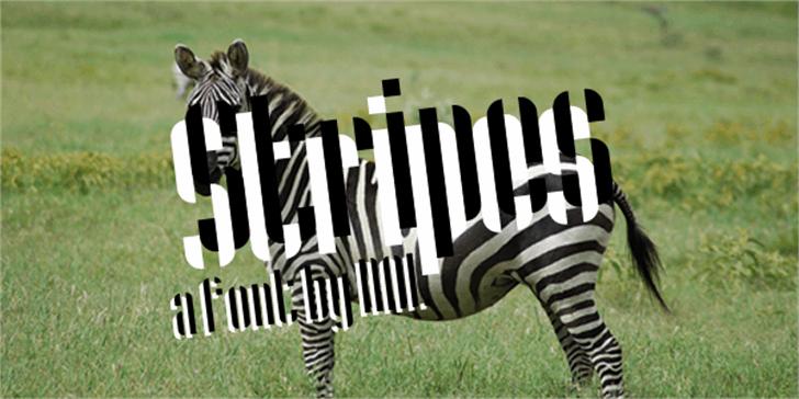 Stripes Font grass outdoor