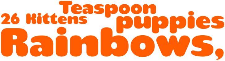 teaspoon Font design illustration